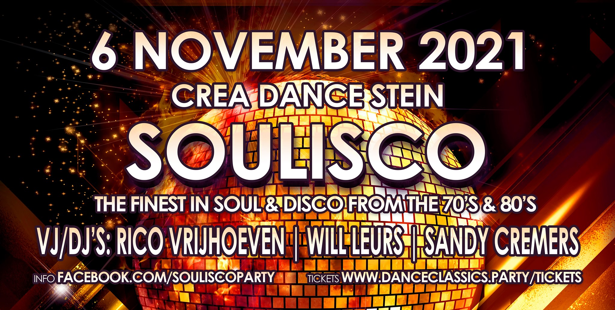 Soulisco party, the finest in Soul & Disco